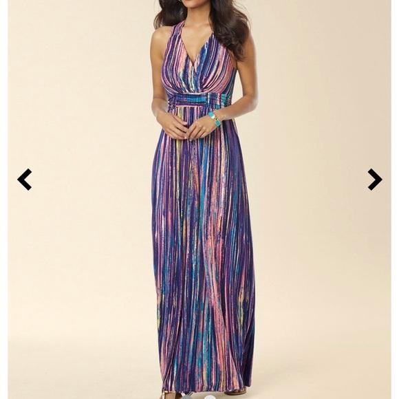 c79c7bf05d Soma Dresses   Crossback Empire Waist Maxi Purple Dress   Poshmark